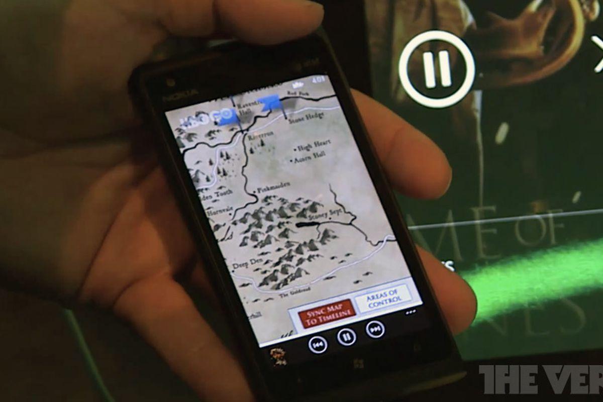 SmartGlass Game of Thrones Lumia 900 from E3