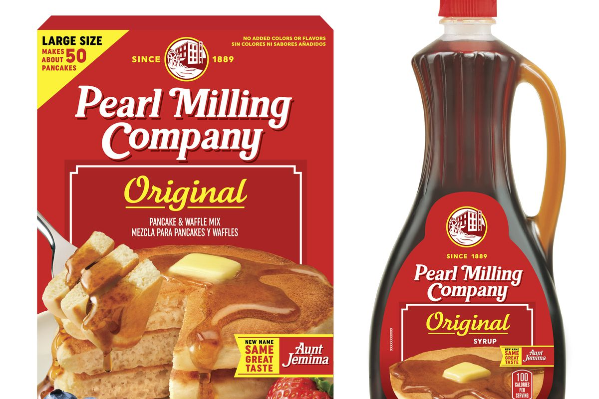 Quaker Oats' Pearl Milling Company brand pancake mix and syrup will replace the Aunt Jemima brand. Aunt Jemima products will continue to be sold until June when the packaging will officially change over.