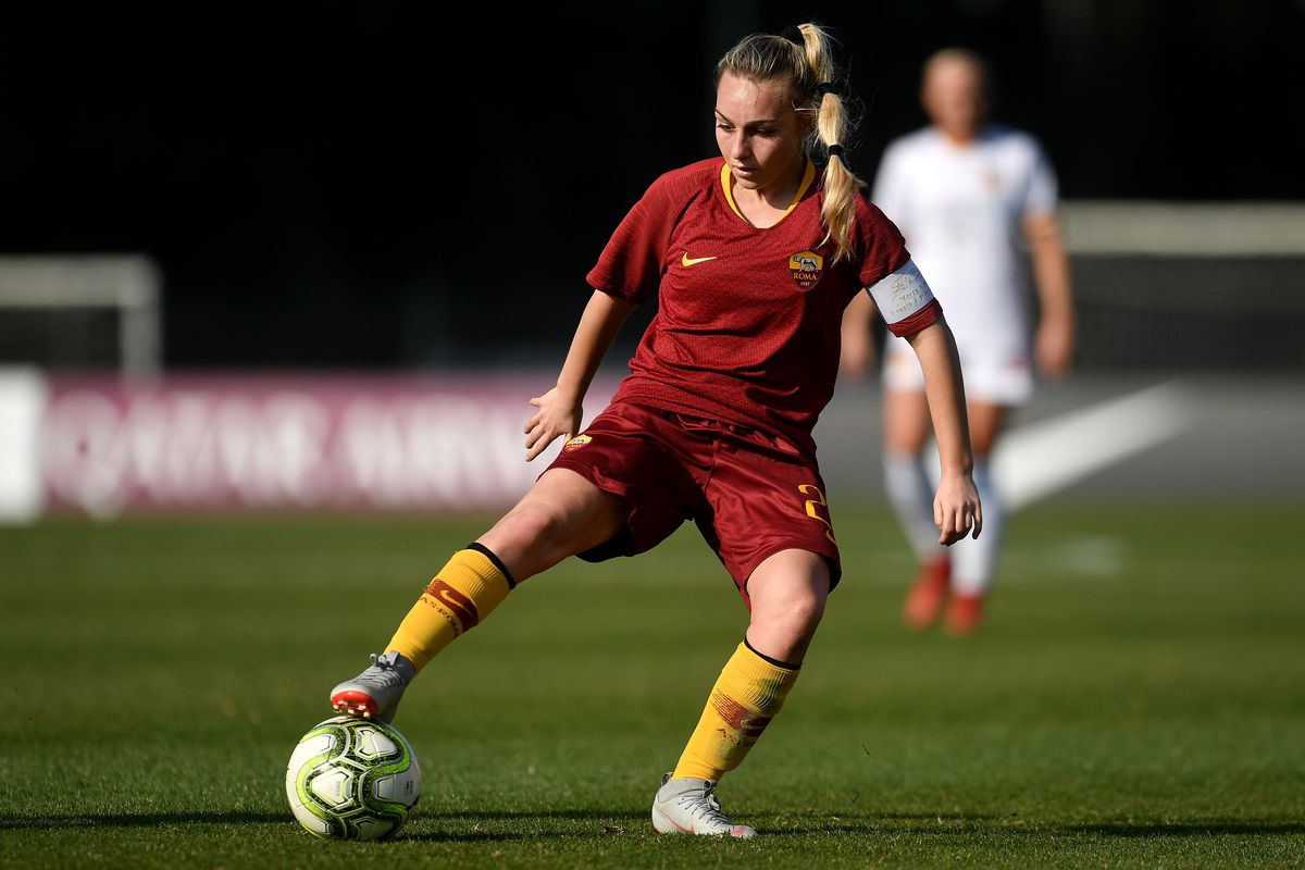 Giada Greggi of AS Roma in action during the women Italy cup...