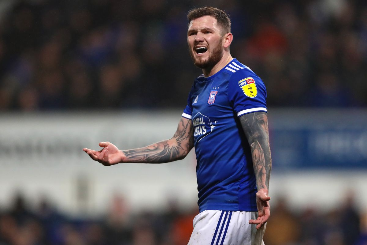 James Norwood of Ipswich Town during the Sky Bet League One...