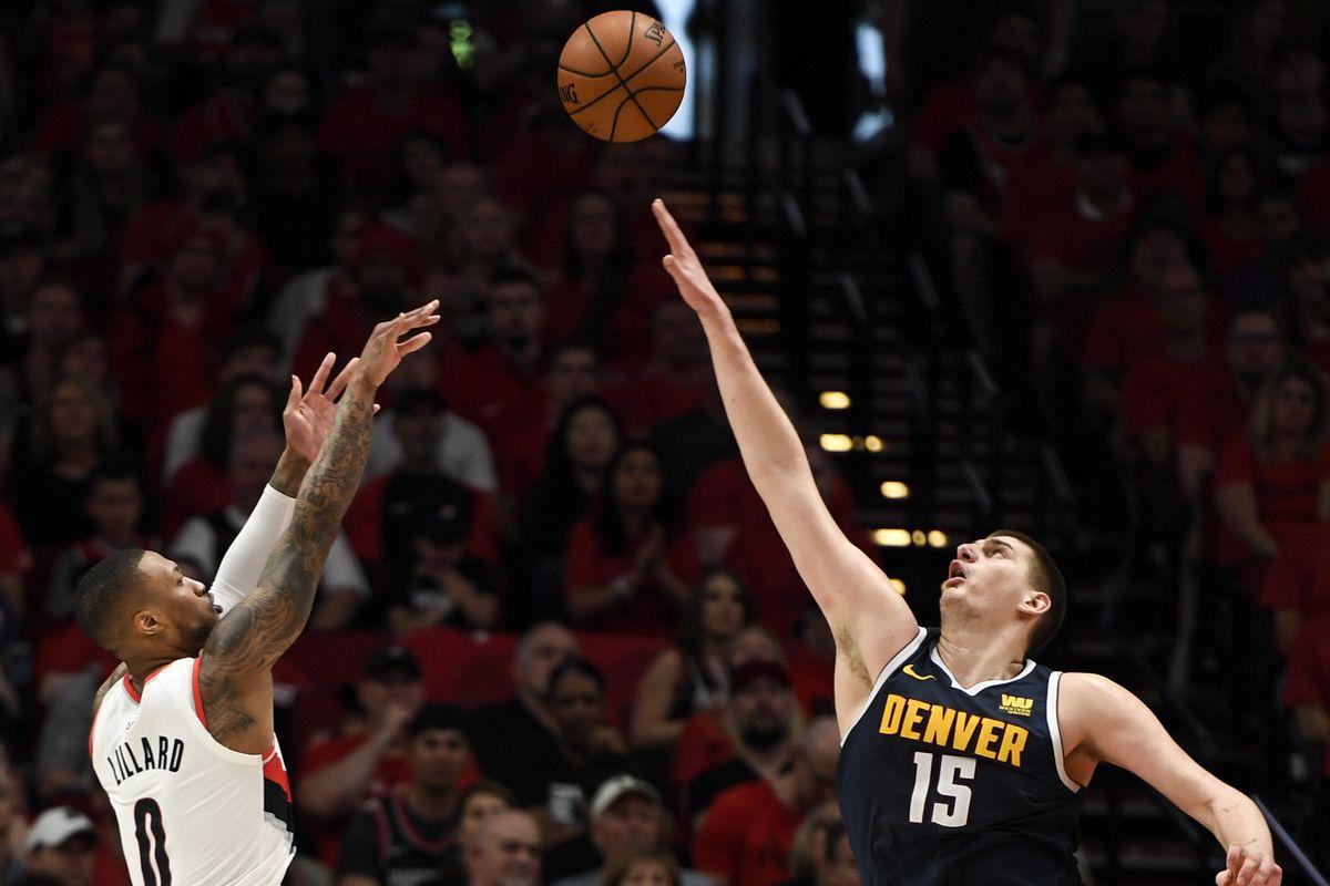 DENVER NUGGETS VS PORTLAND TRAIL BLAZERS, NBA PLAYOFFS