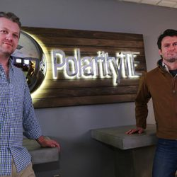 Dr. Ned Swanson, chief operating officer at PolarityTE, and Dr. Denver Lough, the company's CEO, pose for photos at the company's offices in Salt Lake City on Friday, June 2, 2017.
