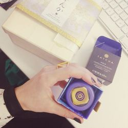 """Well, this is a nice surprise! There's a box from <b><a href=""""http://www.tatcha.com/shop/lip-balm-gp"""">Tatcha</a></b> waiting on my desk for me. In it is their Camellia Beauty Oil and Nourishing Lip Balm, both of which contain 24-karat gold leaf. This is t"""