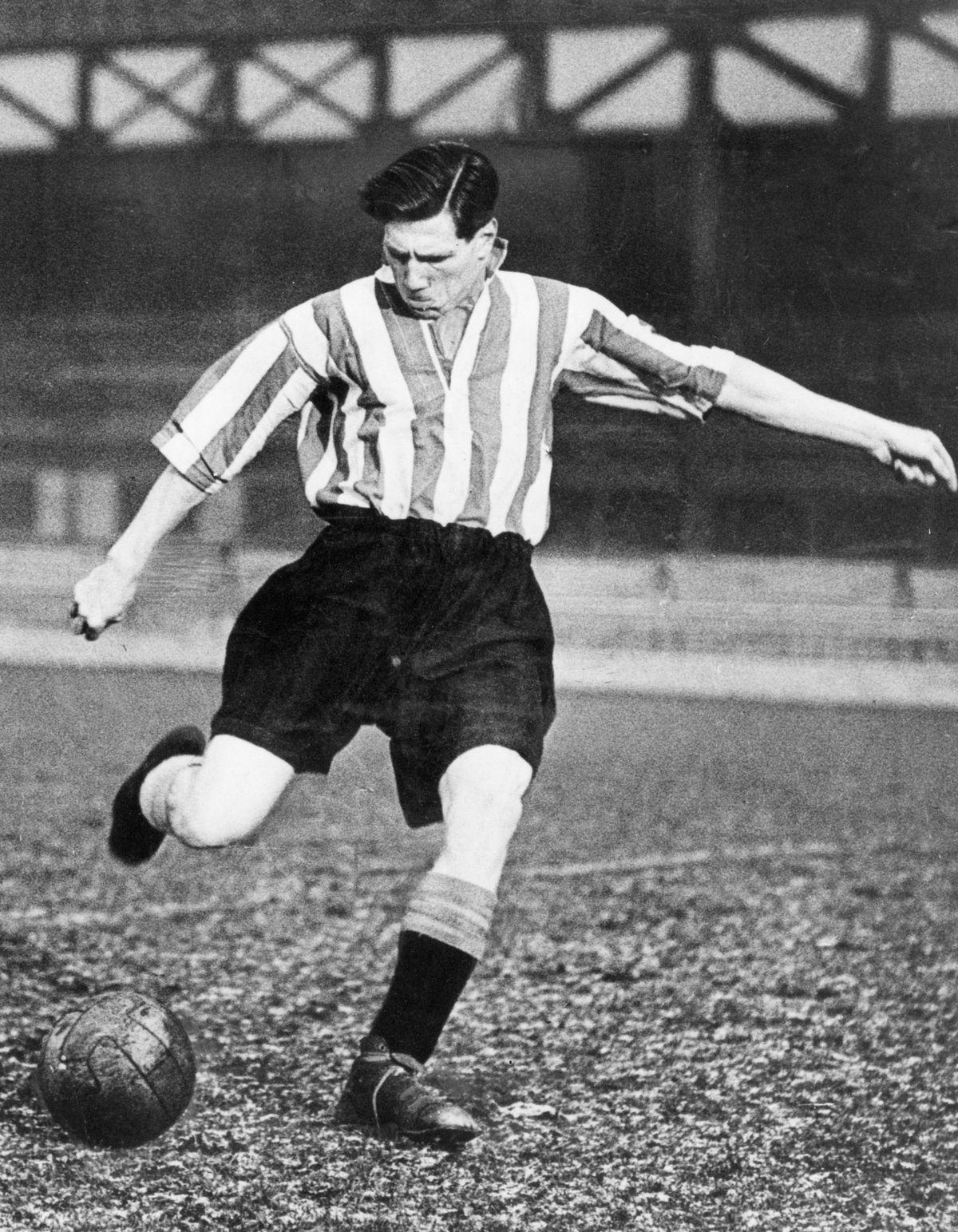 Len Shackleton Sunderland football player December 1948.