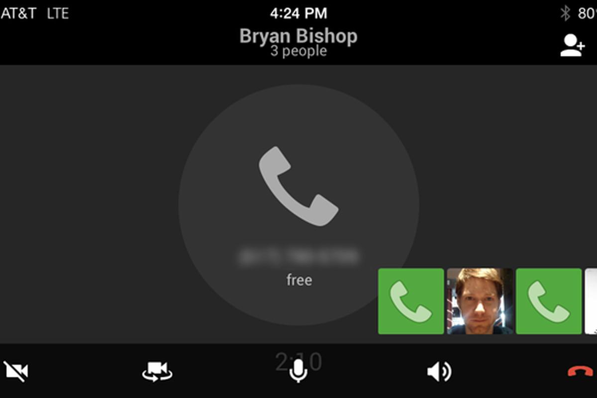 Google Hangouts iOS Voice Calling