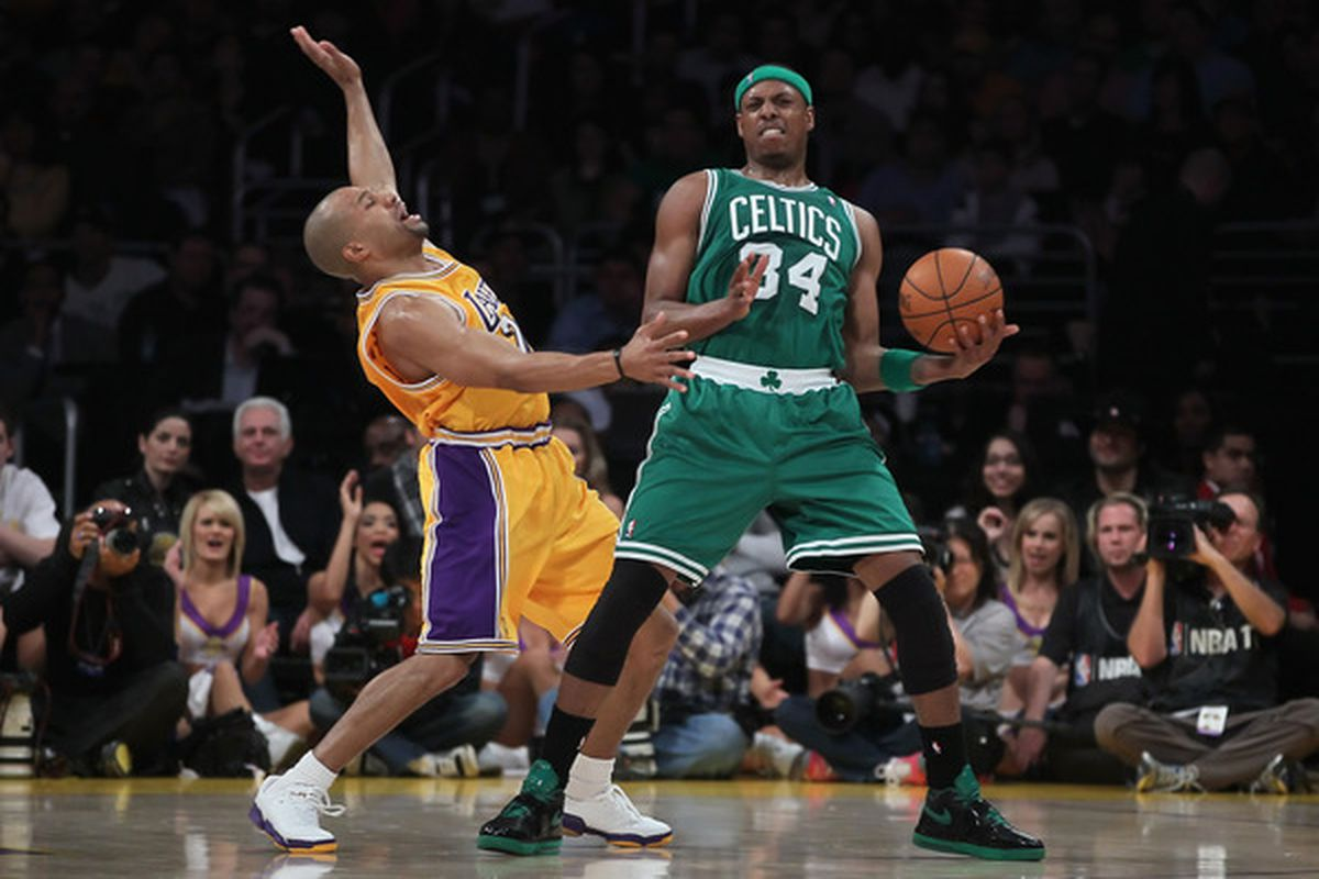 Celtics vs Lakers, settled the only way they know how...break-dance fighting.