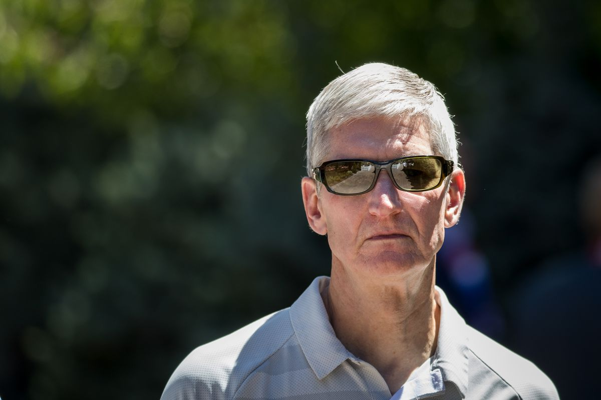 Apple CEO Tim Cook wearing sunglasses