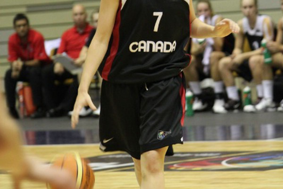 Stephanie MacDonald brings up the rock against Russia