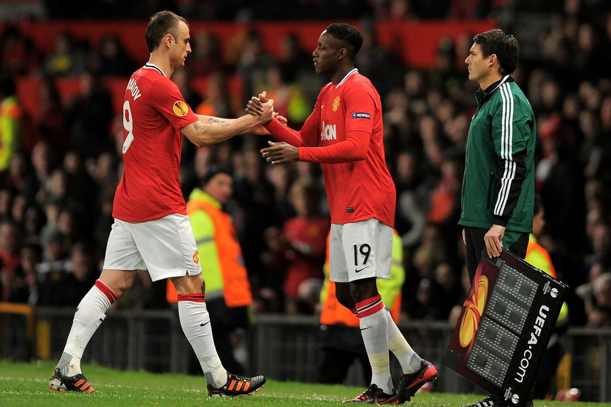 This photo does well to sum up Berba's situation at United...