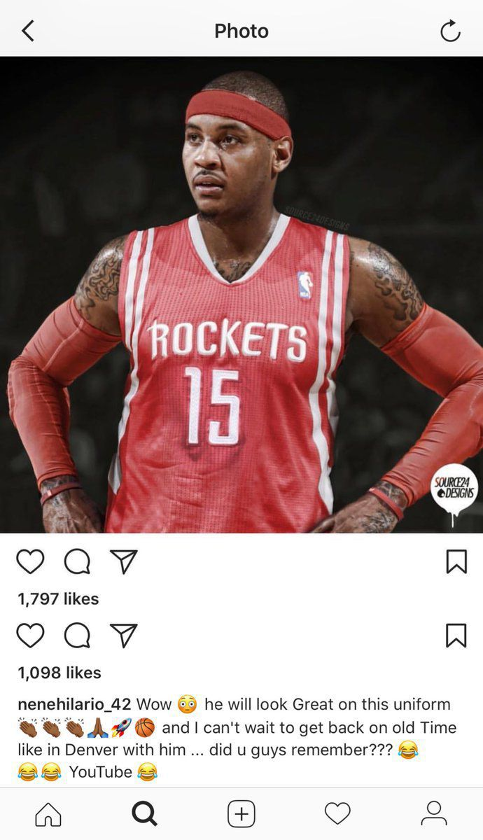 6ee601a89f4 NBA trade rumors  Carmelo Anthony to the Rockets is getting closer ...