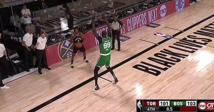 Put Kyle Lowry's inbounds pass over 7'5 Tacko Fall in the Louvre thumbnail