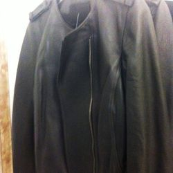 Fitted leather jackets, $350