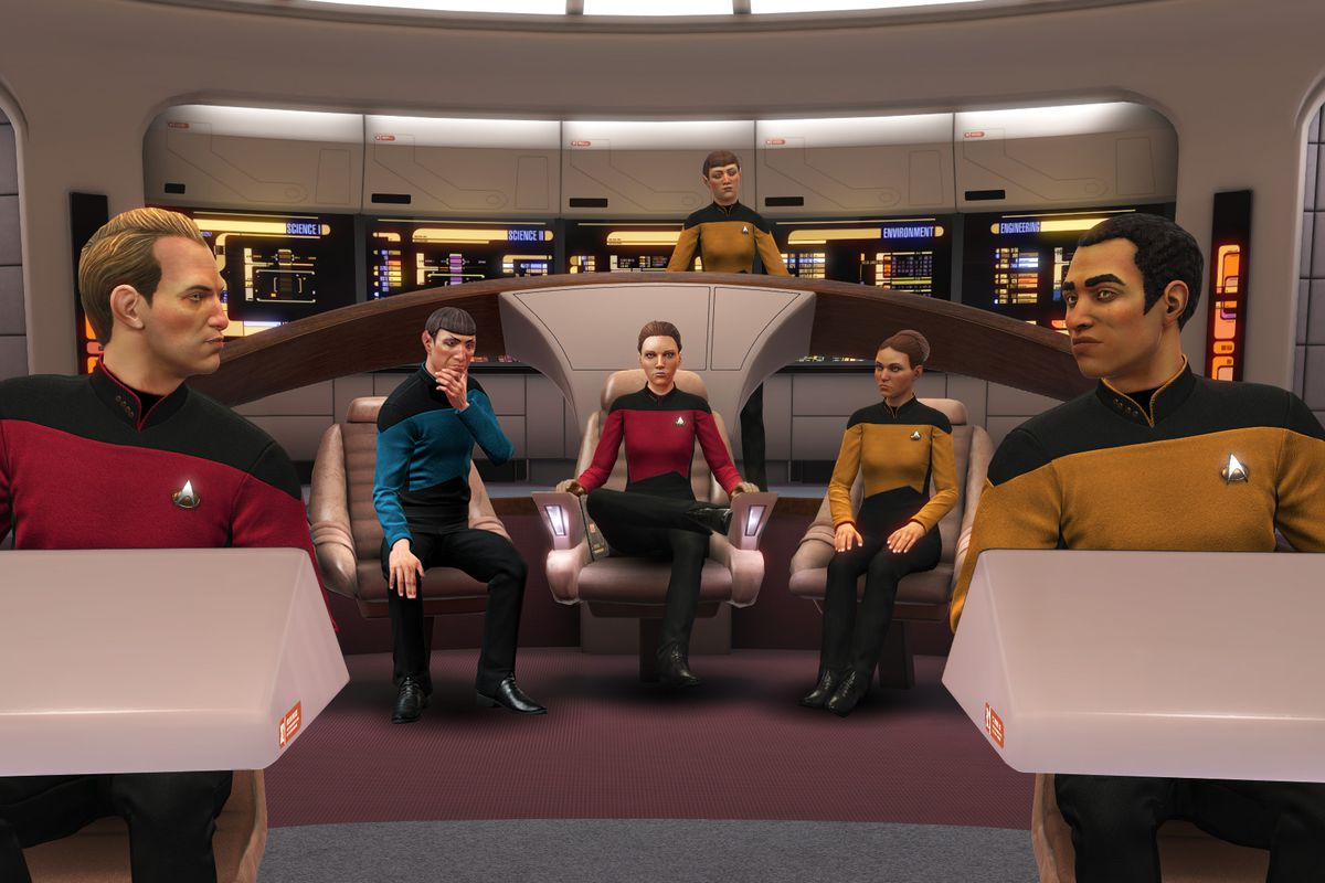 Star Trek Bridge Crew Warps To The Next Generation Polygon