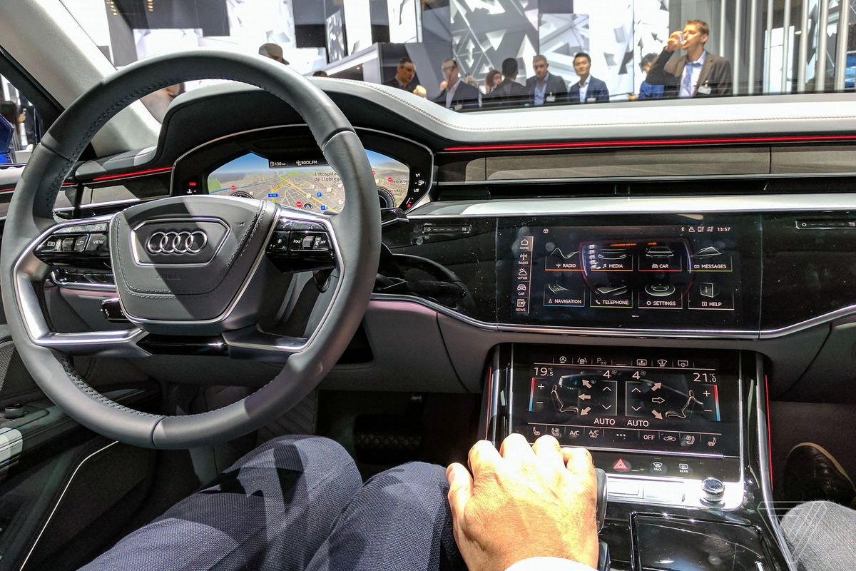Audis a8 is a declaration of war on buttons but now the battle audi a8 sciox Image collections