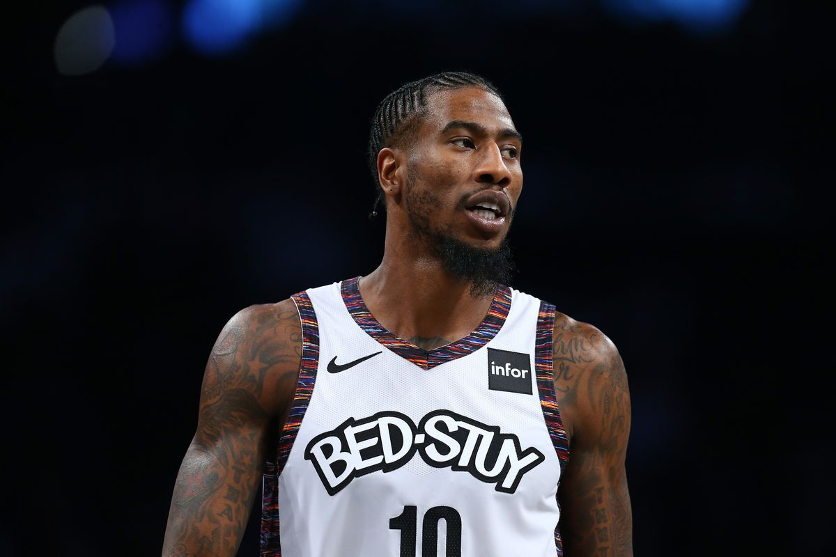 Iman Shumpert of the Brooklyn Nets in action against the Denver Nuggets at Barclays Center on December 08, 2019 in New York City.