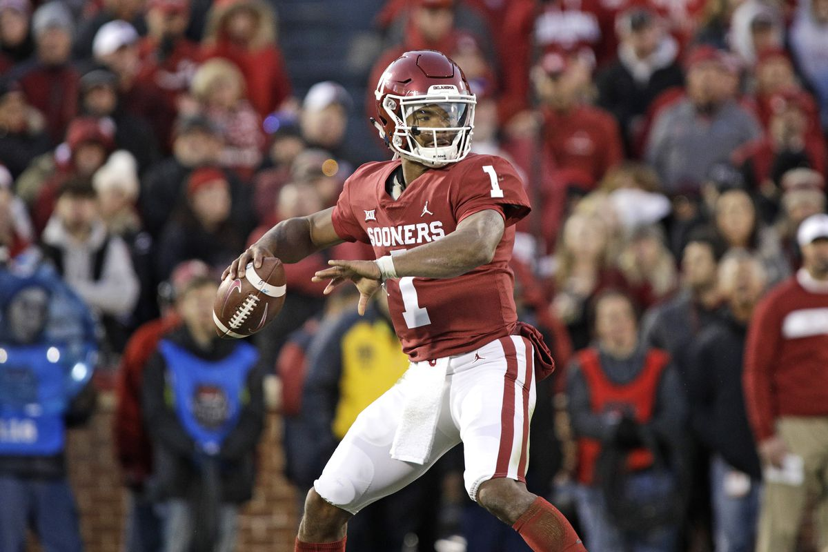 4a3529cf4 Photo by Brett Deering Getty Images. Oklahoma Sooners quarterback and  Oakland Athletics 2018 draftee Kyler Murray ...