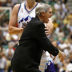 Greg Ostertag, mentioned by Jazz coach Jerry Sloan during his Hall of Fame speech, has worked out for Portland.