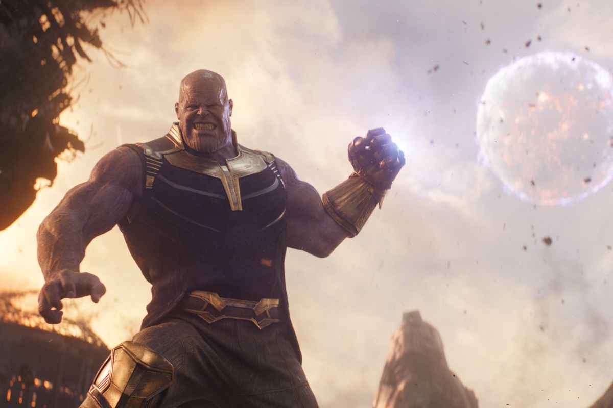 """A picture of the villainous Thanos (Josh Brolin) from """"Avengers: Infinity War."""""""