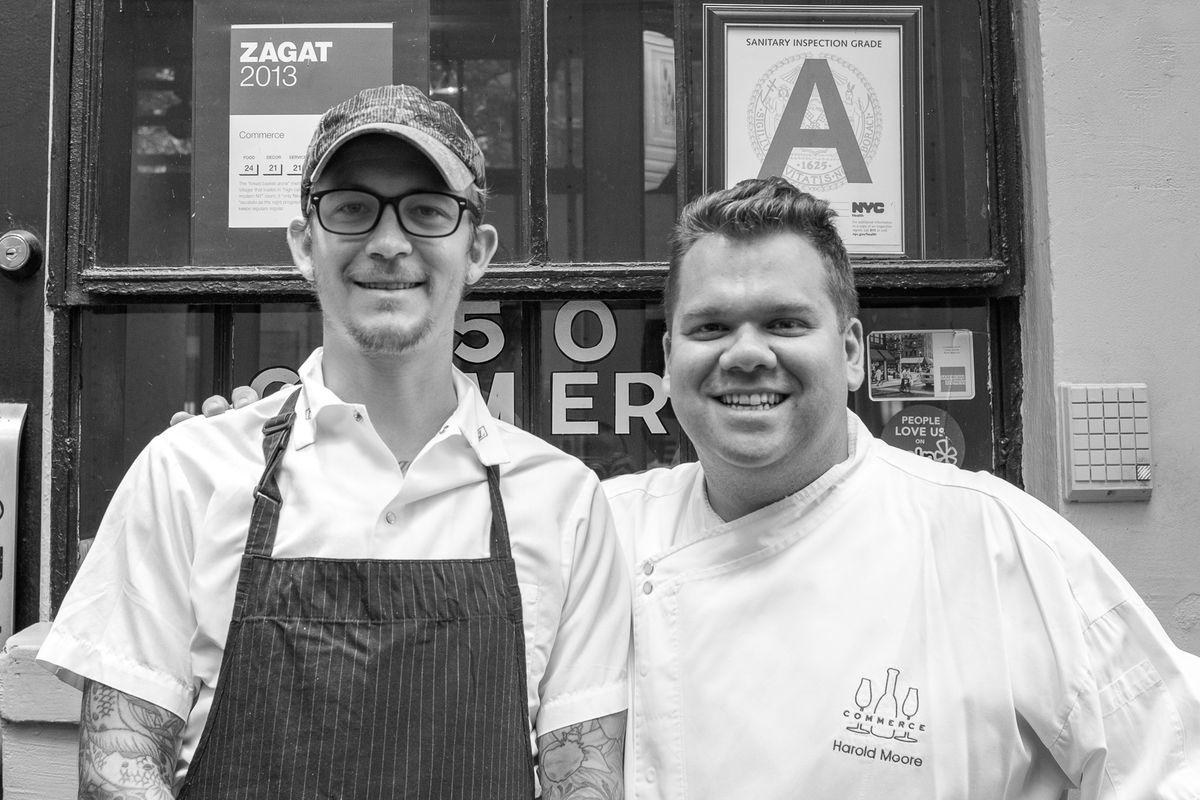 Commerce chef de cuisine Carsten Johannsen and chef/owner Harold Moore.