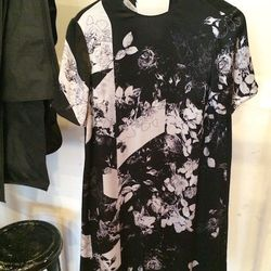 """""""I loved this <a href=""""http://www.preen.eu/"""">Preen by Thornton Bregazzi</a> dress. It's <strong>the right kind of floral for spring</strong>. Instead of doing traditional bright floral patterns they did this subdued floral, which I found fresh. I love the"""