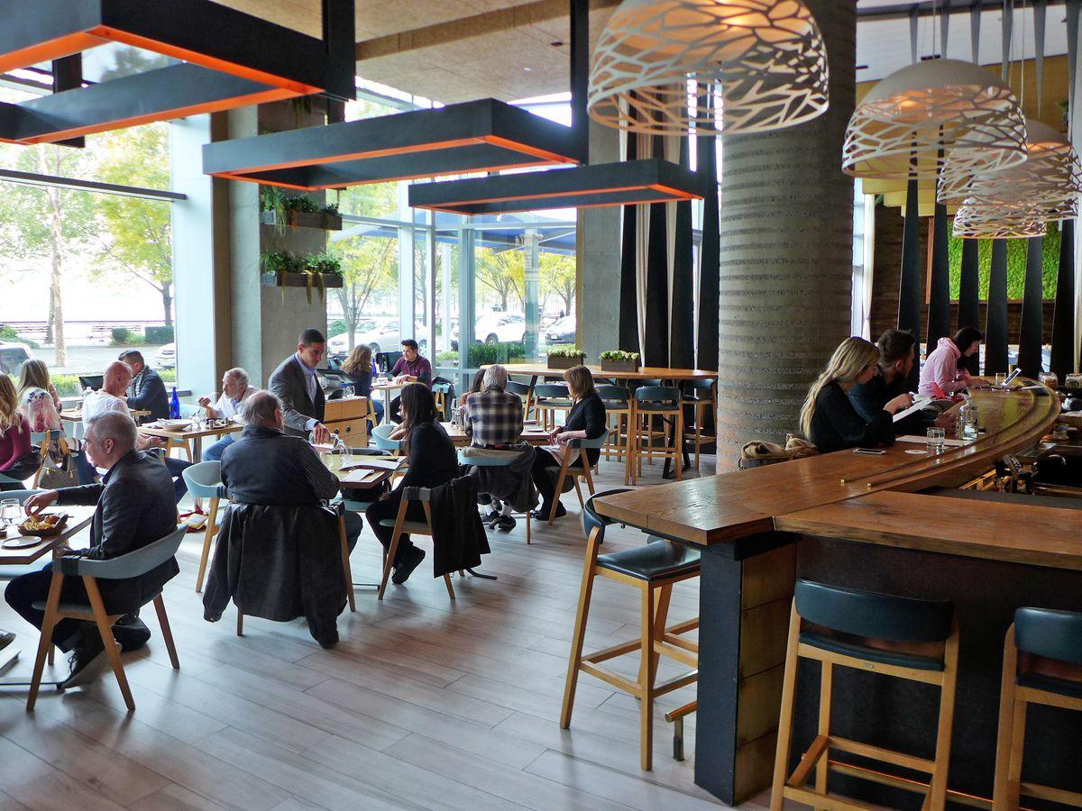 Halifax's interior seems very much like a hotel coffee shop.