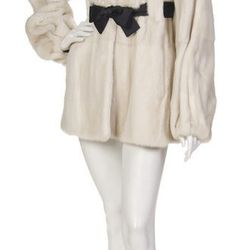We love the girly belt on this cream mink coat from Jean-Louis Scherrer, also estimated at $300 to $500.