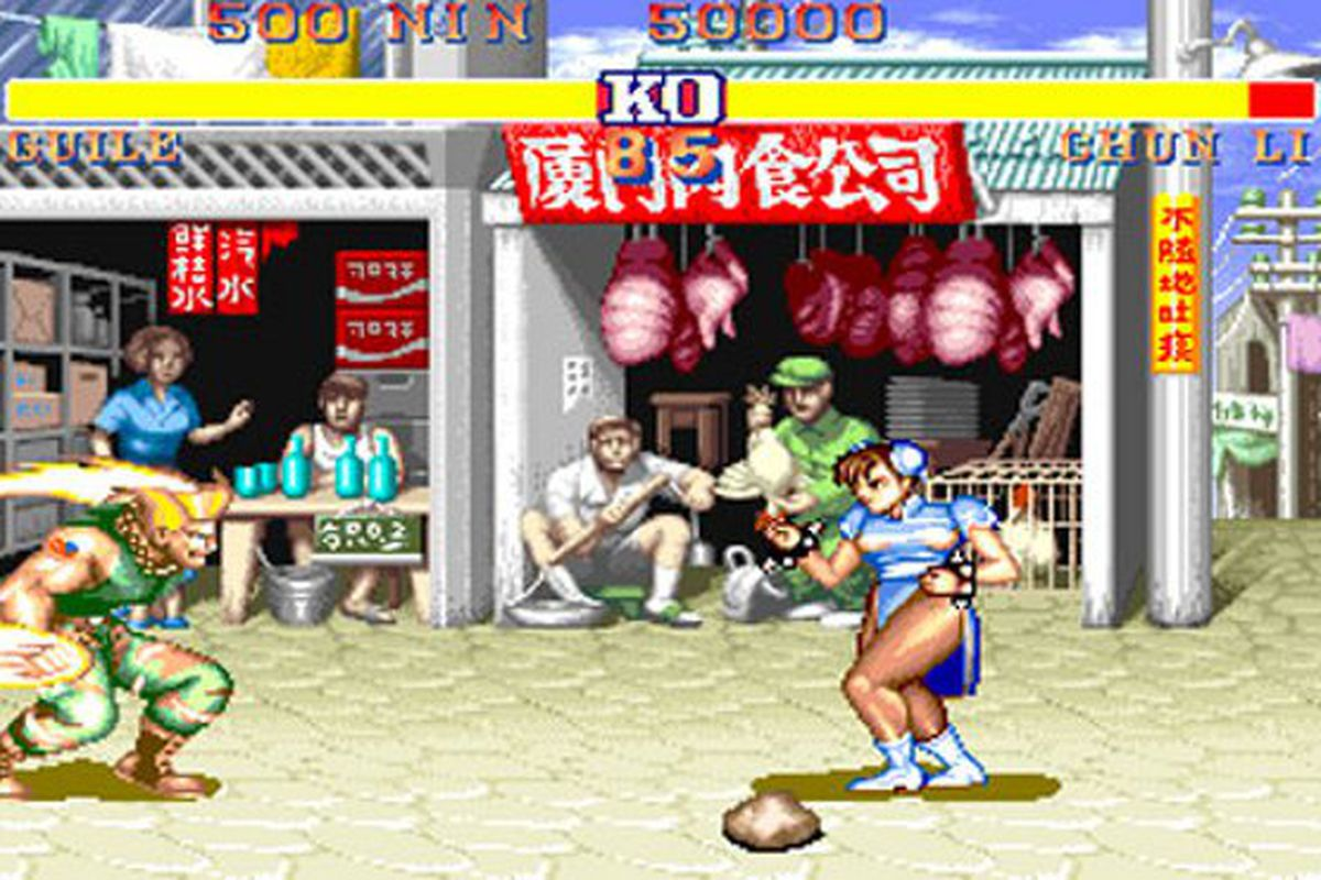 Street Fighter 2's red hadoukens were an easter egg from the