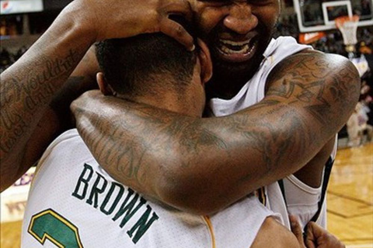 If Norfolk State's Kyle O'Quinn is taken in the first round, I hope he finds a way to do this to David Stern the first time he sees him.