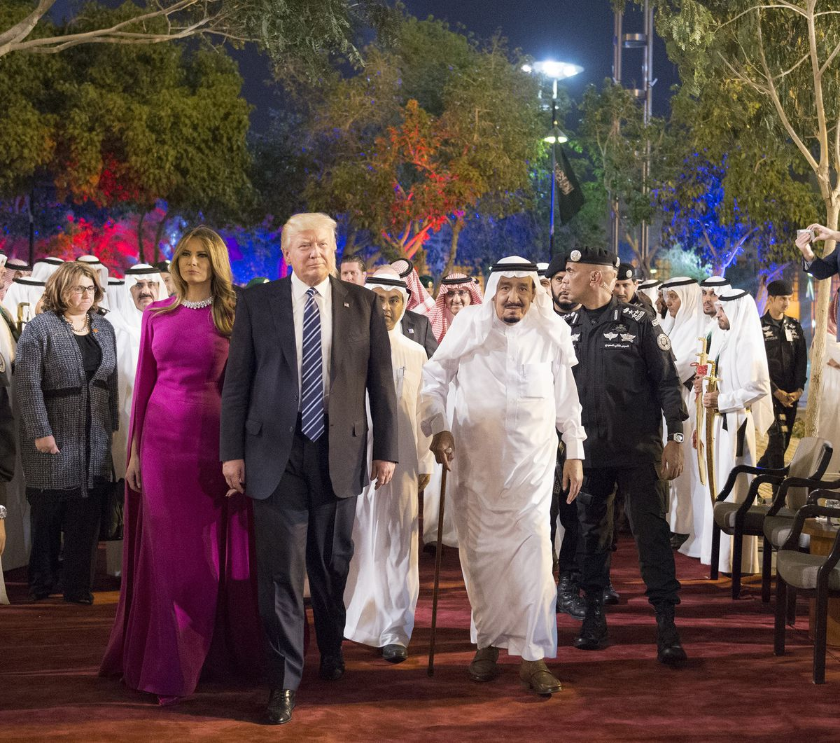 Secretary of Commerce Wilbur Ross cited the lack of protests in Saudia Arabia as a sign of President Trump's popularity. There may have been other reasons.