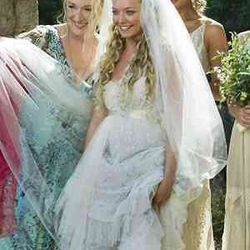 """Mamma Mia (2008): This is a dress that says, """"I don't give a rat's ass who my father is (but I kind of hope it's Colin Firth)."""""""