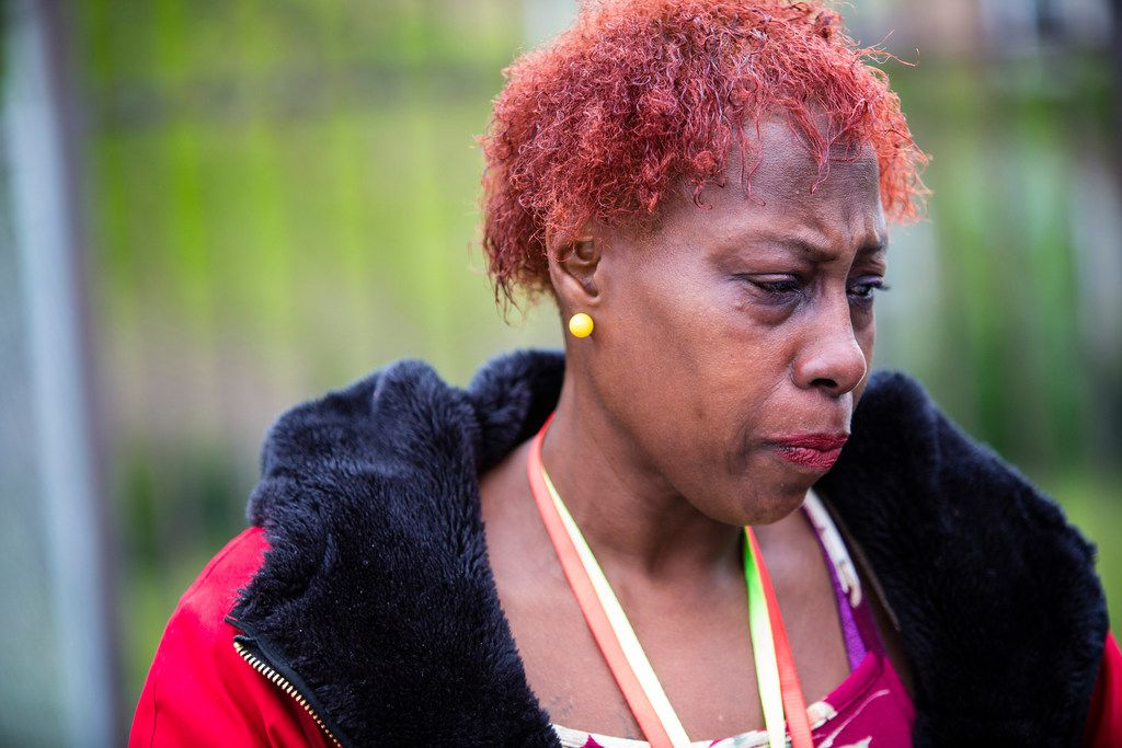 Hermenia Holloway-Kirkwood, whose son was murdered.   James Foster/For the Sun-Times