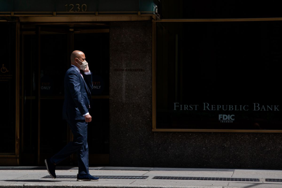 Sixth Avenue in Midtown was largely absent of office workers during a workday, Aug. 14, 2020.