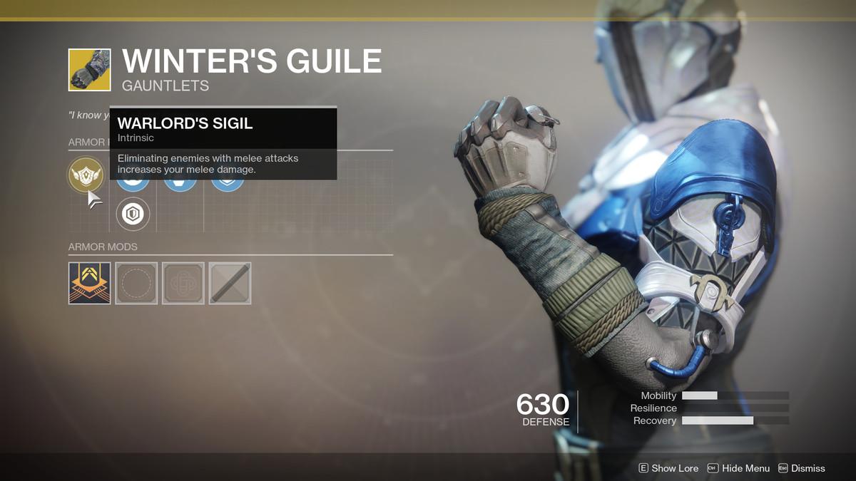 Winter's Guile Exotic Destiny 2