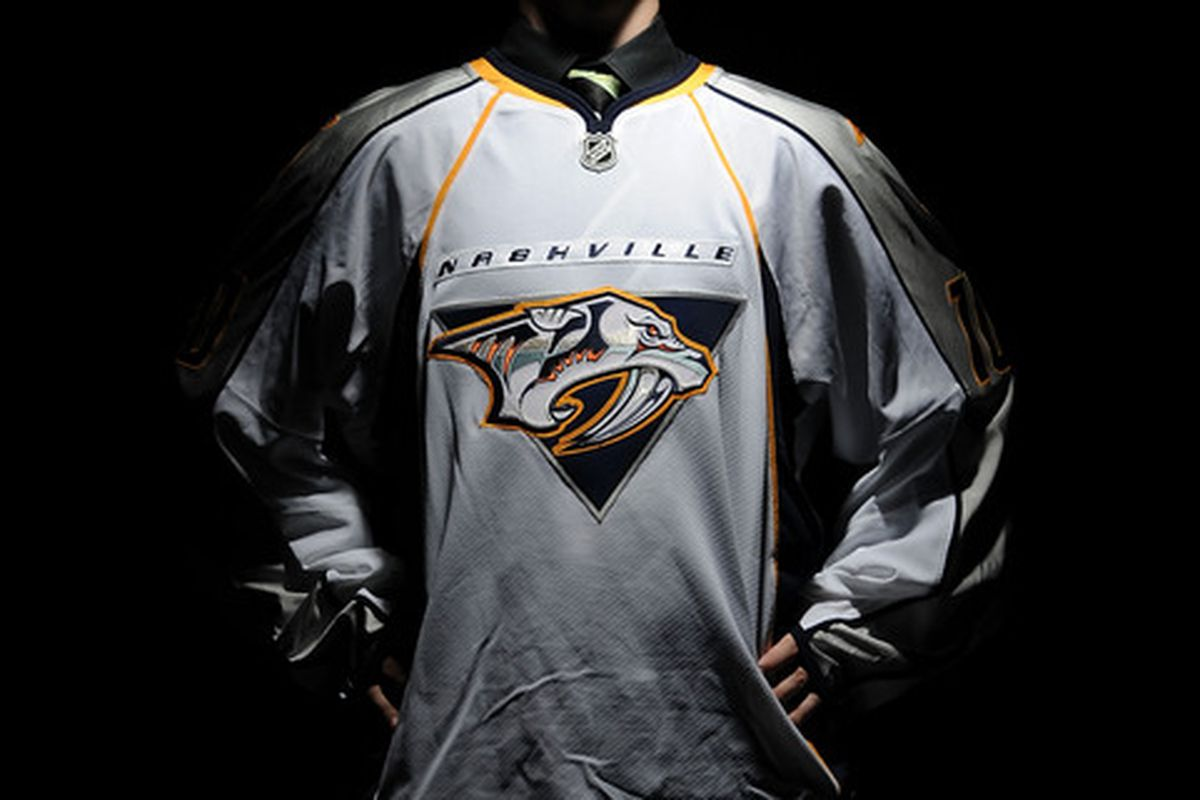 LOS ANGELES, CA - JUNE 26:  Taylor Aronson, drafted in the third round by the Nashville Predators, poses for a portrait during the 2010 NHL Entry Draft at Staples Center on June 26, 2010 in Los Angeles, California.  (Photo by Harry How/Getty Images)