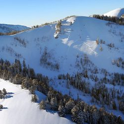 An avalanche on the Sound of Music slope in the out-of-bounds area of Park City ski resort Friday, Jan., 27, 2017. A skier survived the avalanche after deploying an air bag.