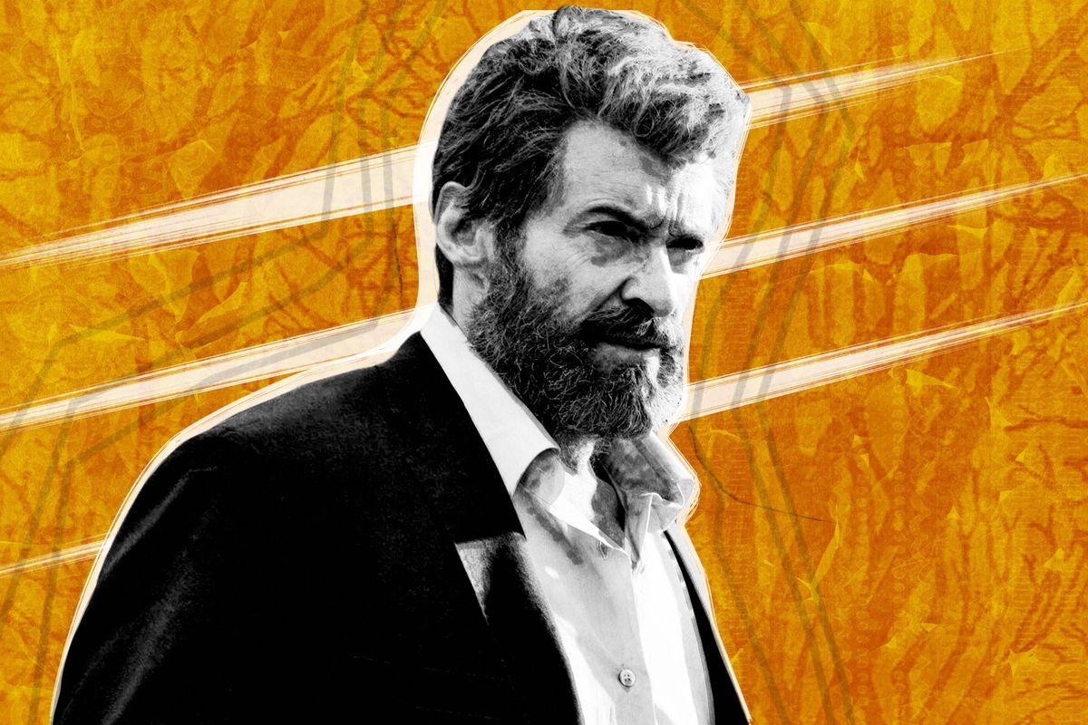 A photo illustration of Hugh Jackman in 'Logan'