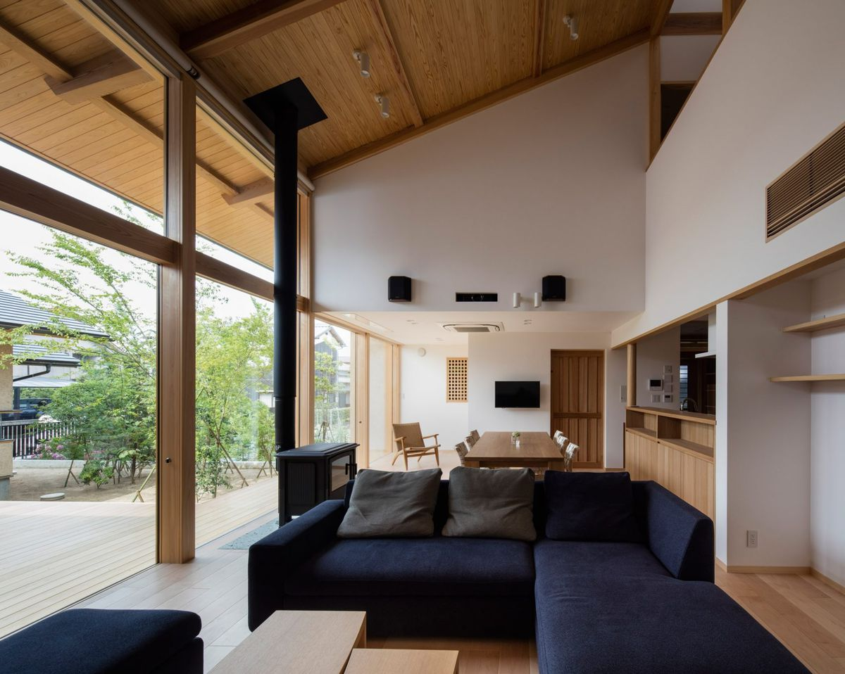 Clean lines natural materials and an abundance of view framing windows are deployed throughout the home take a closer look