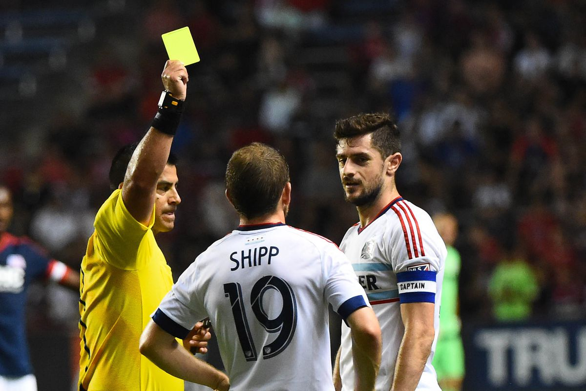 """""""See me after the game for your 'Thug Life' tattoo, Harry,"""" Cocis said after Shipp's first career yellow card. (Ok, no he didn't.)"""