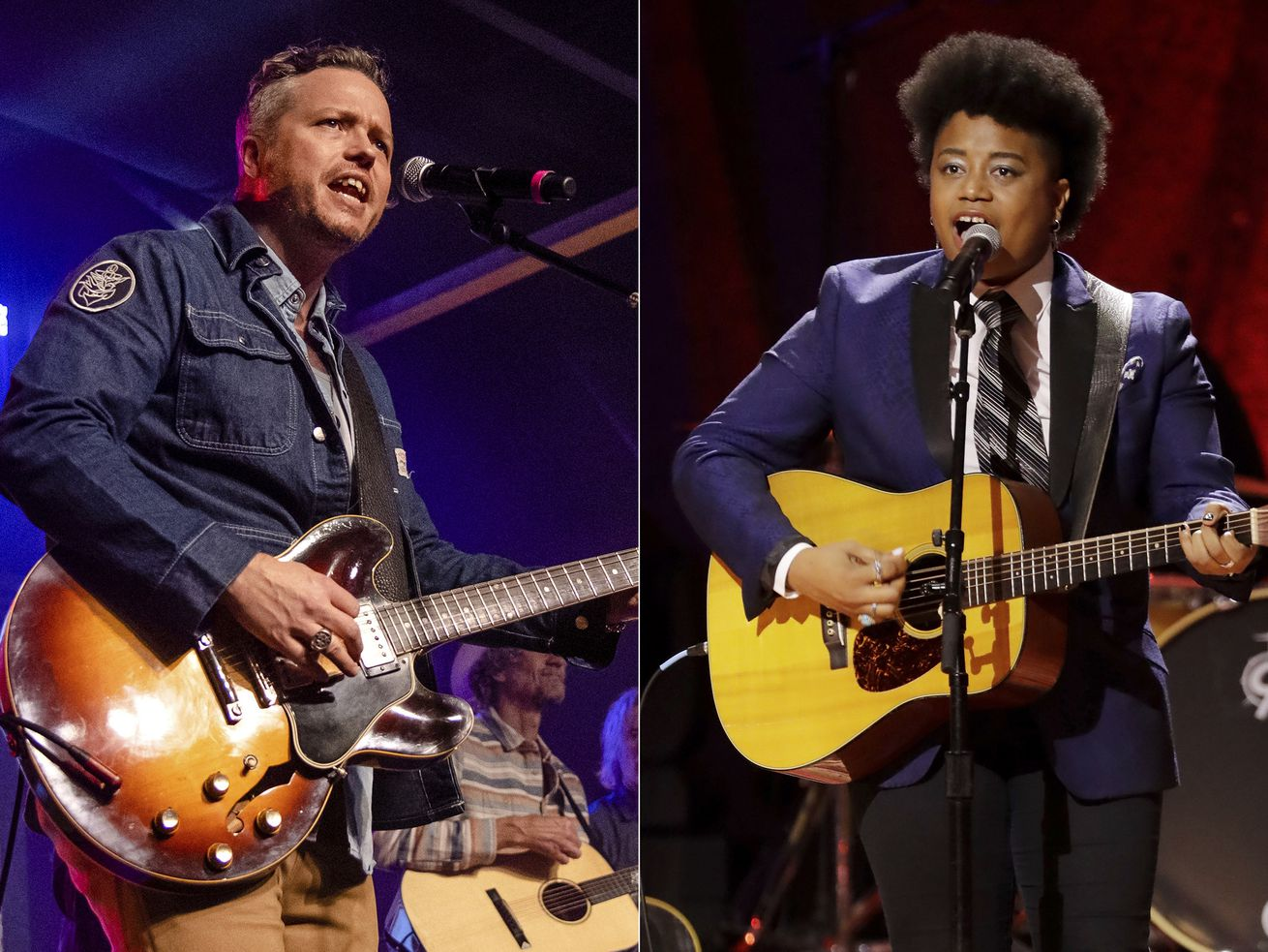Jason Isbell (let) and and Amythyst Kiah of Our Native Daughters lead the Americana music awards nominations.