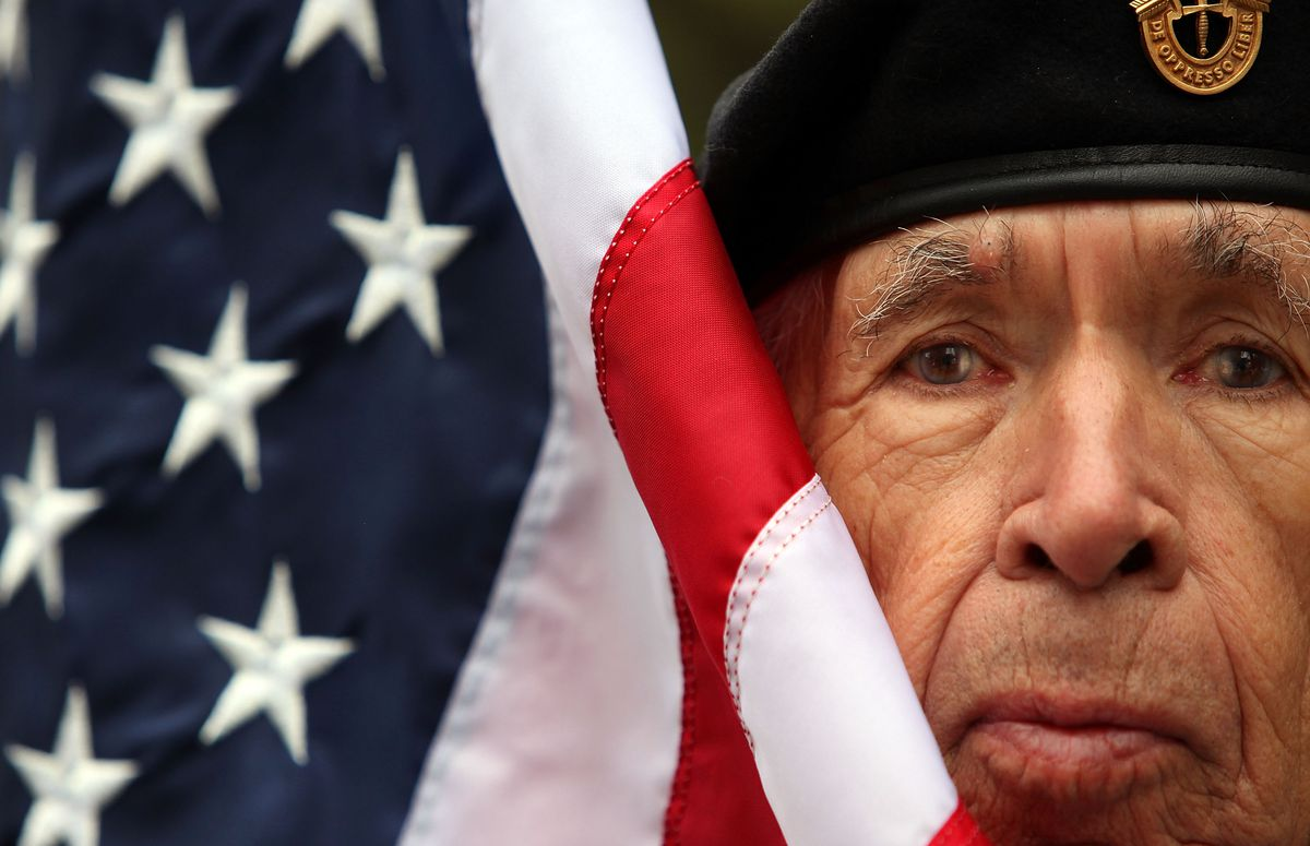 20,000 March In New York Veterans Day Parade