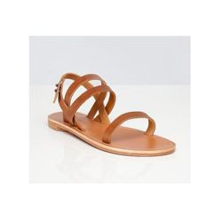 """Summer Sandal in Cognac, $105 at <a href=""""https://www.everlane.com/collections/summer-sandal/products/womens-sandal-cognac"""">Everlane</a>"""