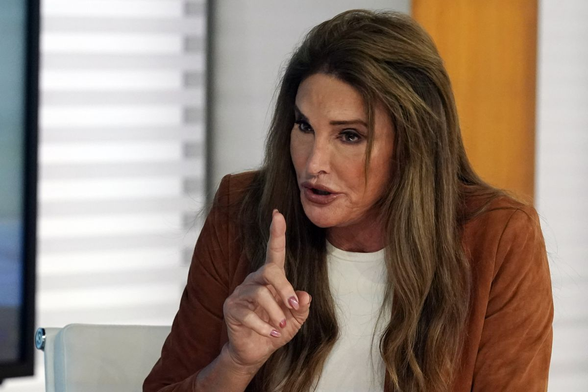 """Caitlyn Jenner, a Republican candidate for California governor, is interviewed on the Fox News Channel's """"America's Newsroom."""""""