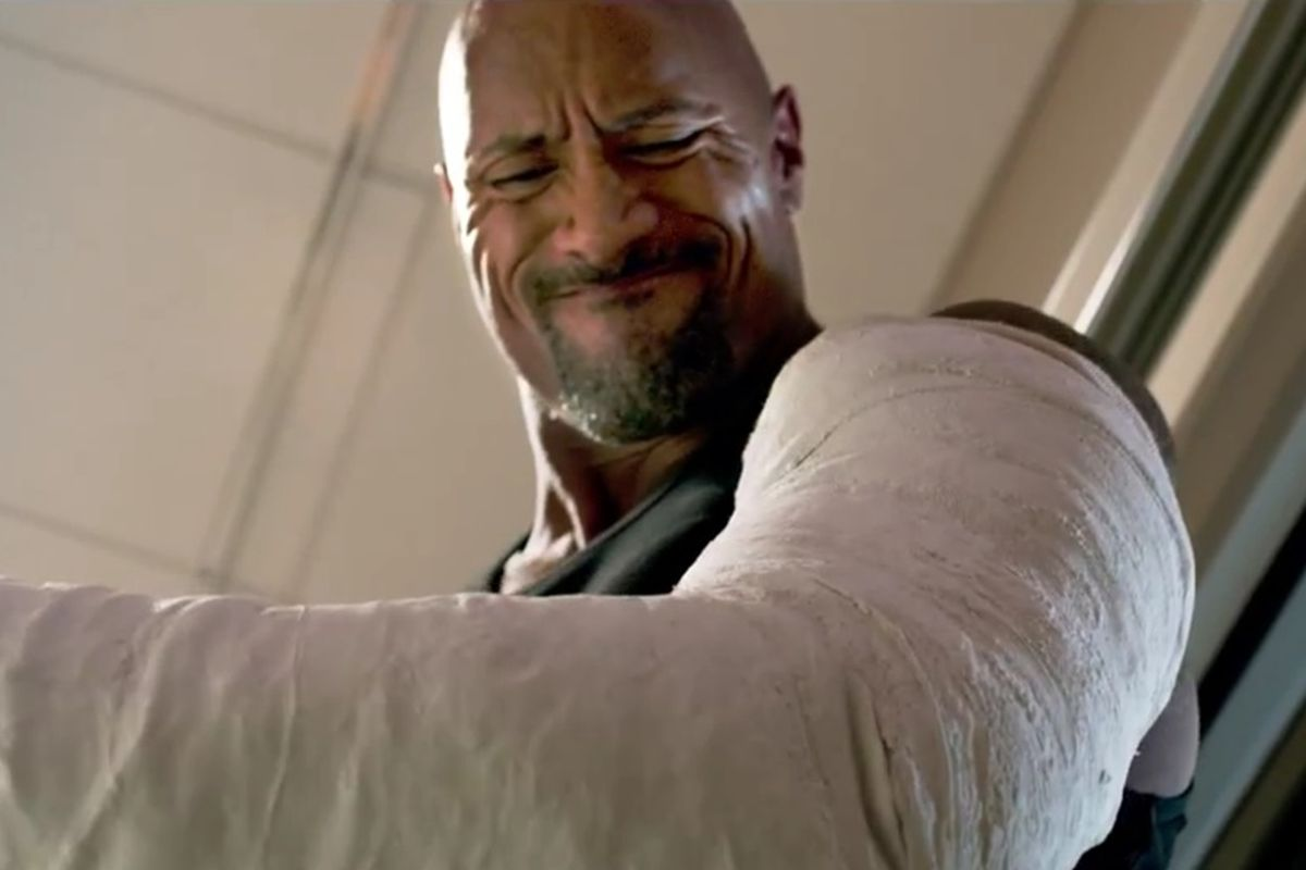 The Rock in Furious 7.