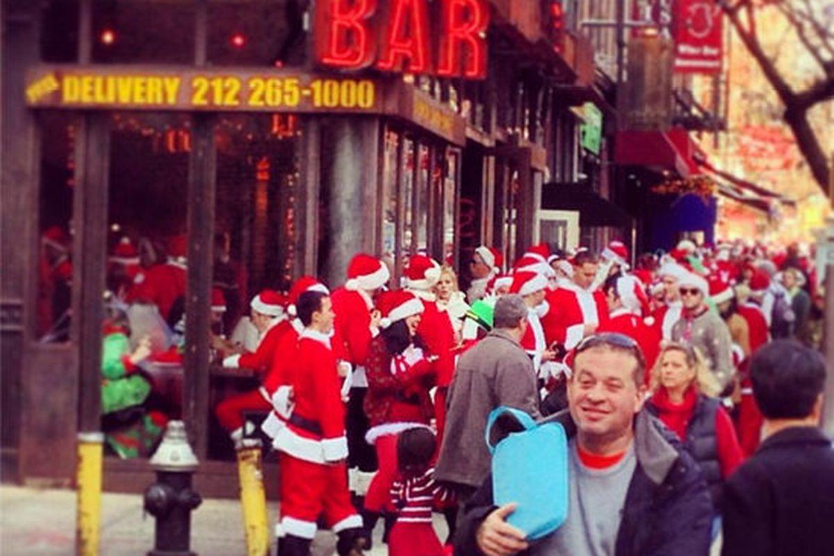 "Drunk Santas stumble into Southern Hospitality. Photo: <a href=""http://instagram.com/p/TQ66pzCTus/"">Instagram/doncker1</a>."
