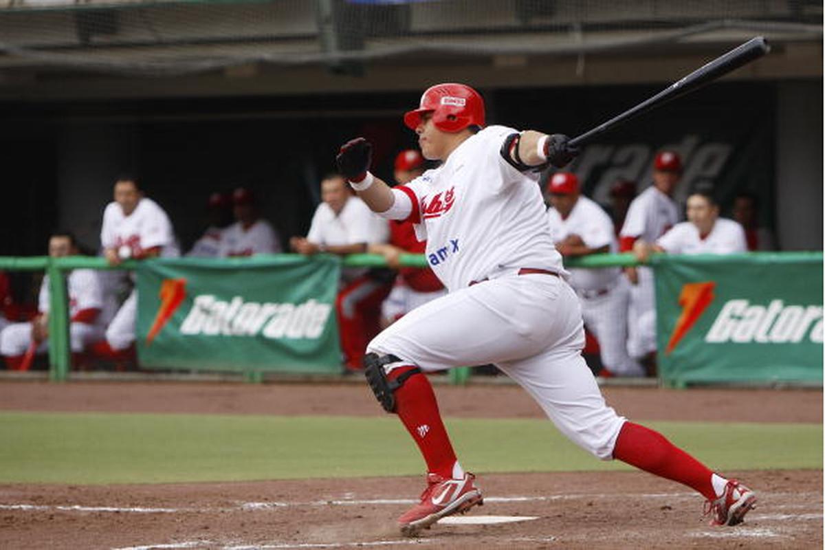 "Peoria slugger, master of ""putting your weight behind it"", first baseman/designated hitter Japhet Amador."