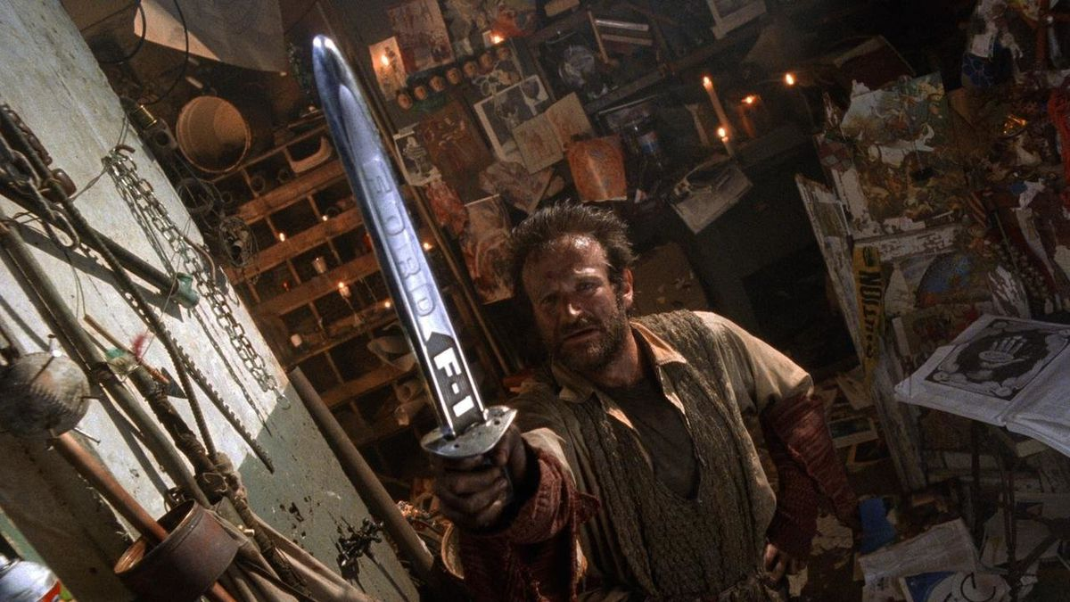Robin Williams as Parry the knight in The Fisher King