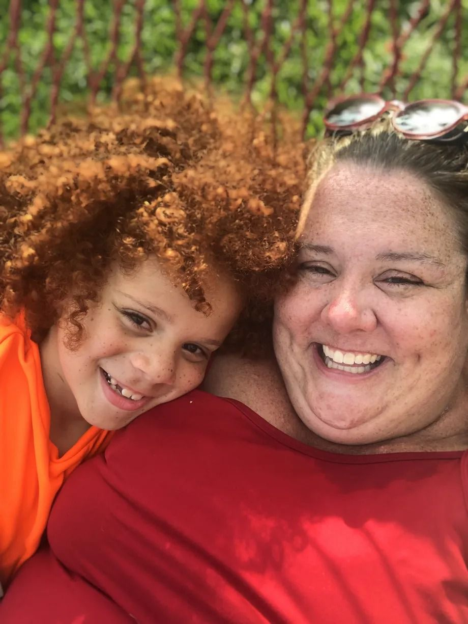 Heather Dailey, pictured with her son, surveyed families about their experiences with Learning Bridges sites and whether children with disabilities were being accommodated.