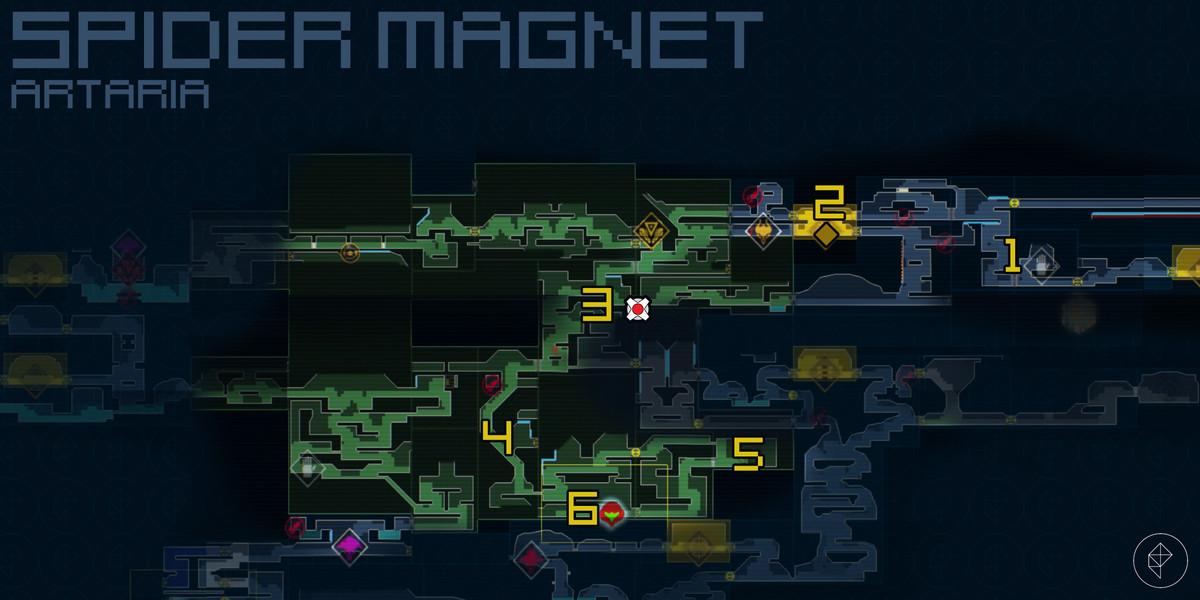 Spider Magnet (blue walls)