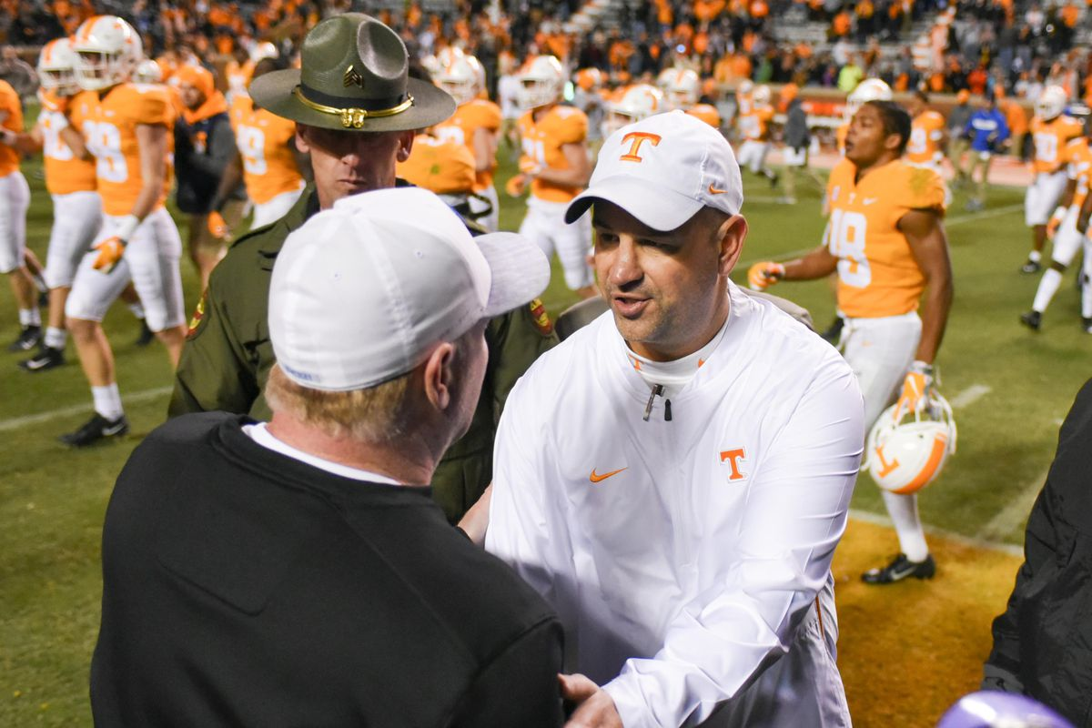 Vols Football: What Pruitt said after Tennessee's win over ...