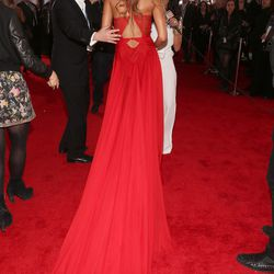 The back of Rihanna's gown